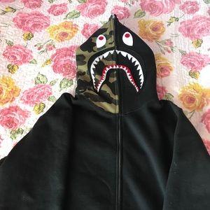 Bape Shark Full zip camp hoodie